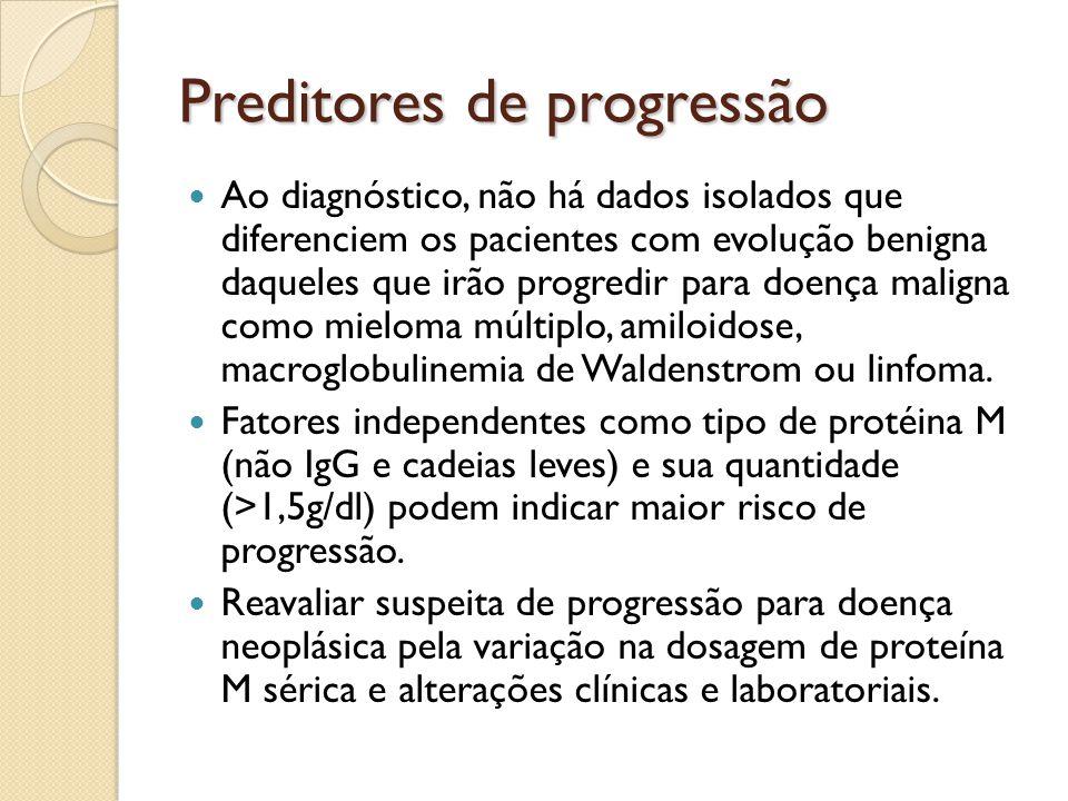 Preditores de progressão