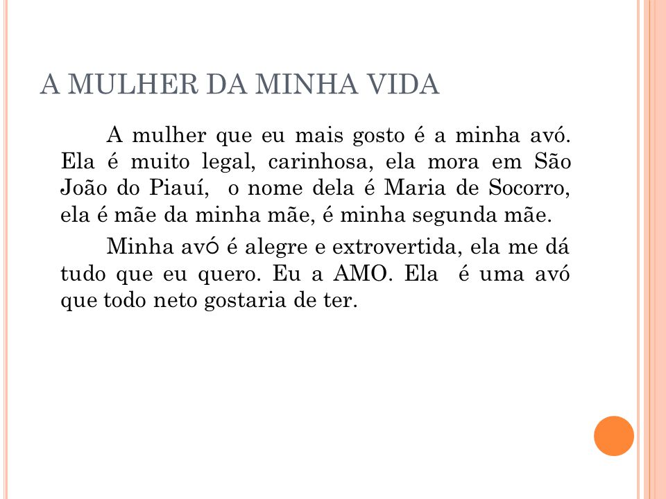 A MULHER DA MINHA VIDA