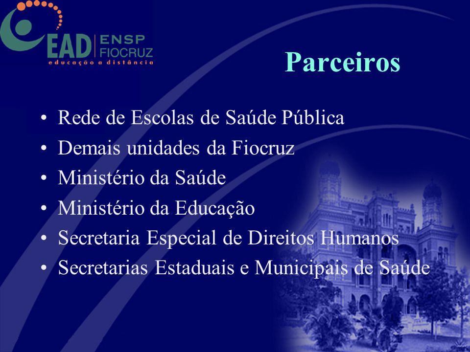 Parceiros Rede de Escolas de Saúde Pública Demais unidades da Fiocruz