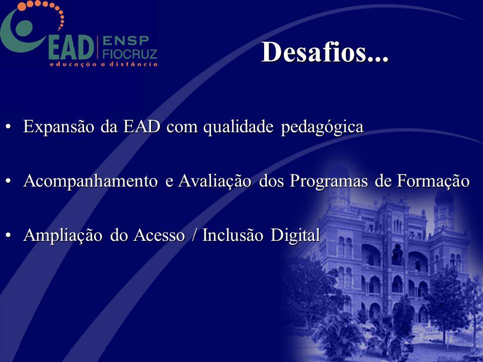 Desafios... Expansão da EAD com qualidade pedagógica