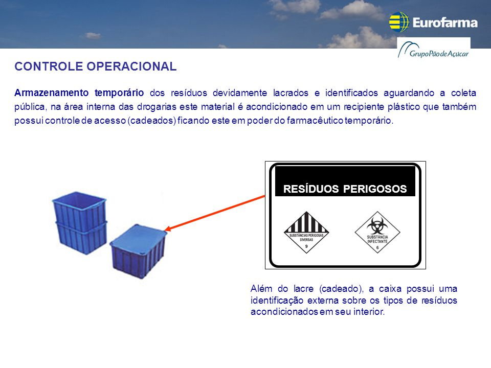 CONTROLE OPERACIONAL RESÍDUOS PERIGOSOS