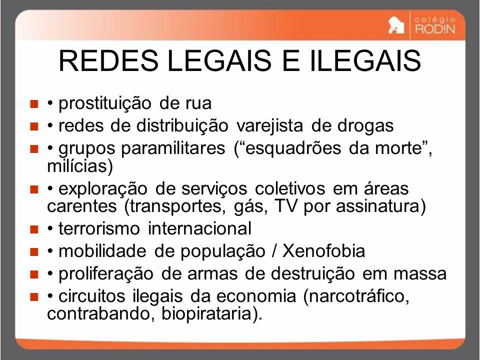 REDES LEGAIS E ILEGAIS • prostituição de rua