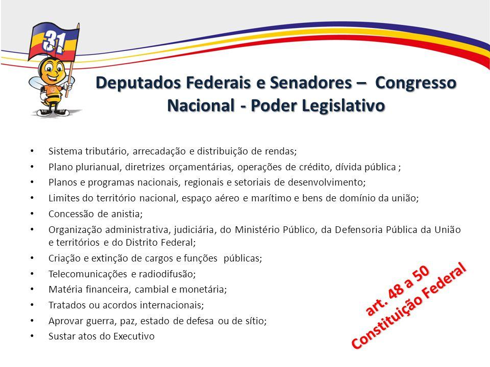 art. 48 a 50 Constituição Federal