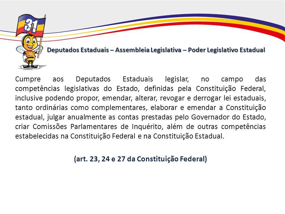 Deputados Estaduais – Assembleia Legislativa – Poder Legislativo Estadual