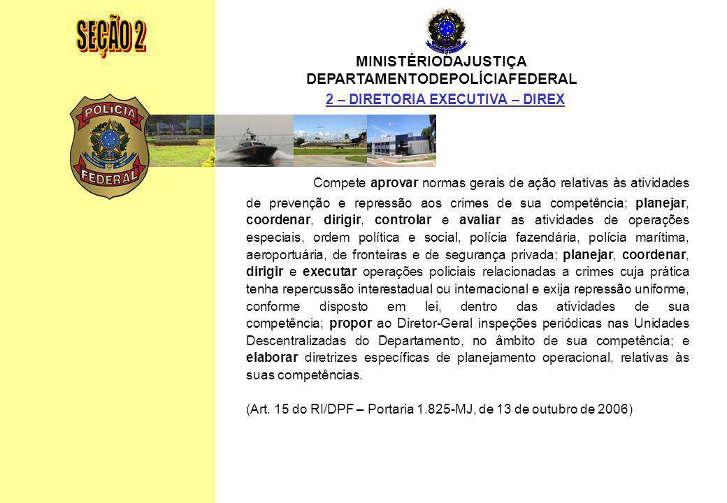DEPARTAMENTODEPOLÍCIAFEDERAL 2 – DIRETORIA EXECUTIVA – DIREX