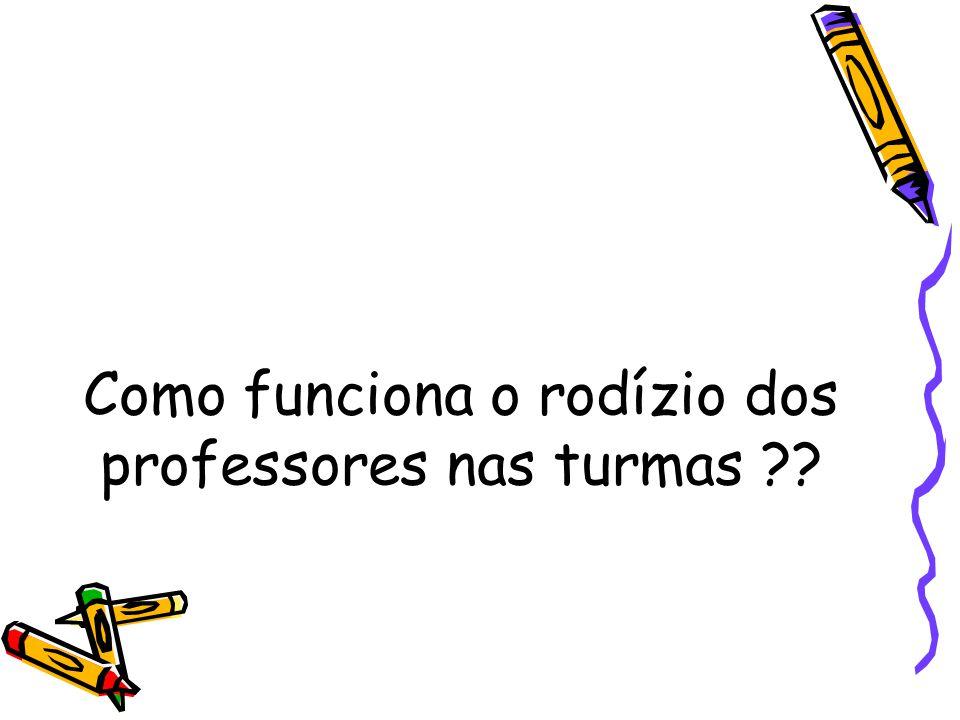 Como funciona o rodízio dos professores nas turmas