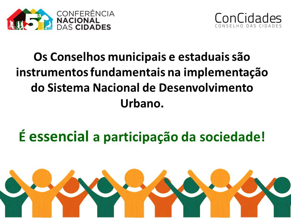 É essencial a participação da sociedade!