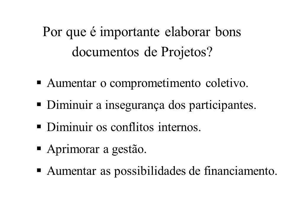 Por que é importante elaborar bons documentos de Projetos