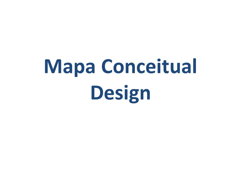 Mapa Conceitual Design