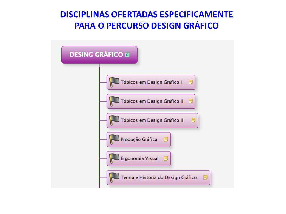 Disciplinas Ofertadas Especificamente para o Percurso design GRÁFICO