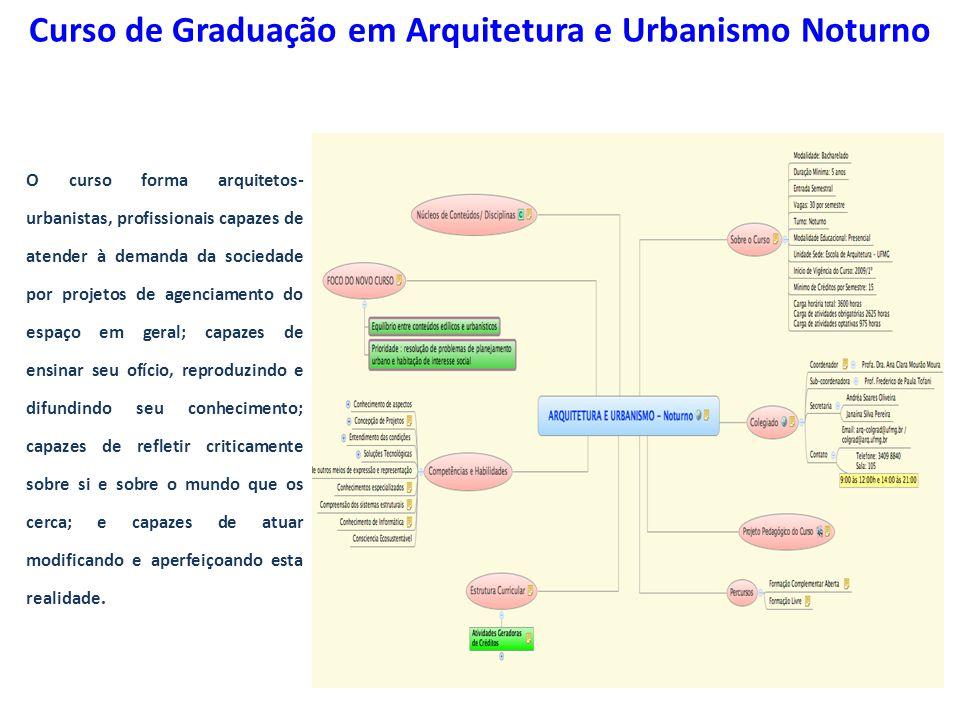 Curso de Graduação em Arquitetura e Urbanismo Noturno