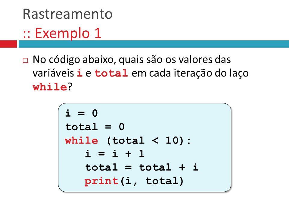 Rastreamento :: Exemplo 1