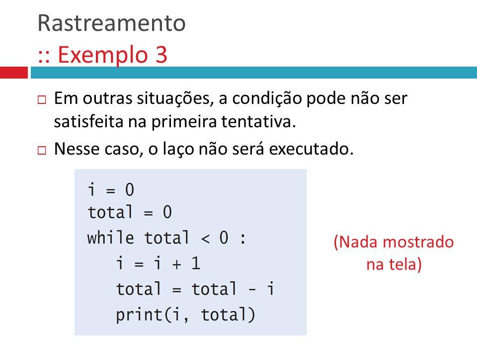 Rastreamento :: Exemplo 3
