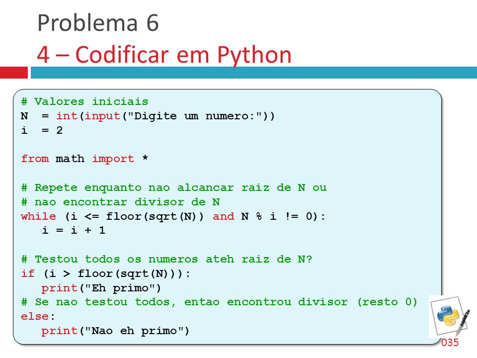 Problema 6 4 – Codificar em Python