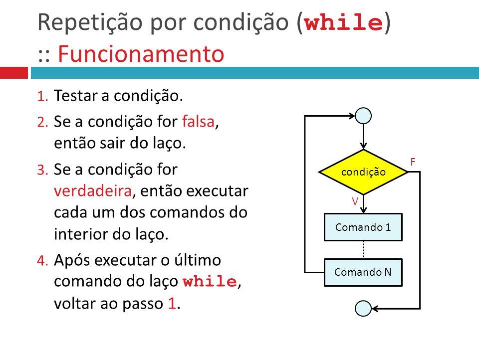 Repetição por condição (while) :: Funcionamento