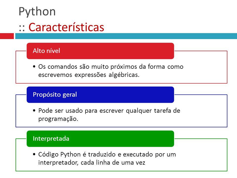 Python :: Características