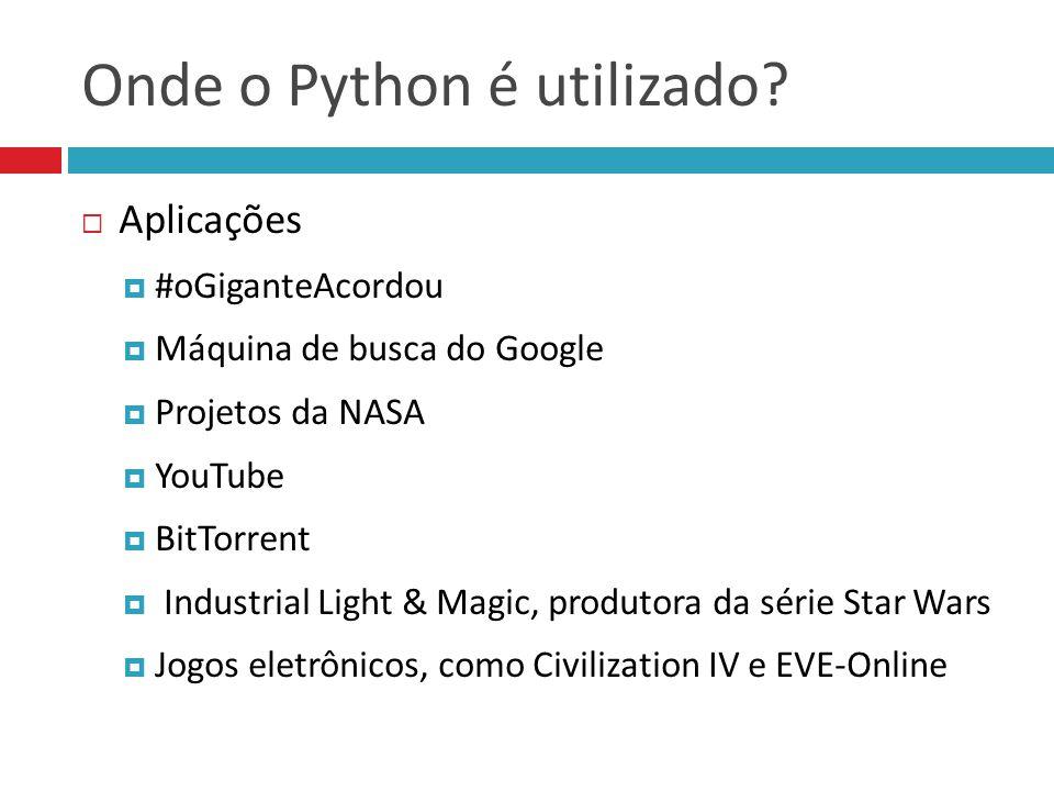 Onde o Python é utilizado