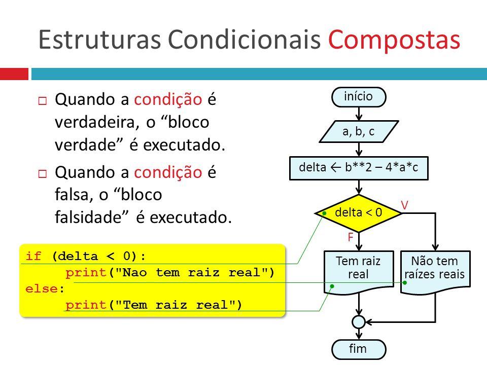 Estruturas Condicionais Compostas