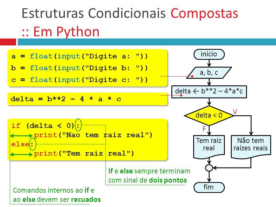 Estruturas Condicionais Compostas :: Em Python