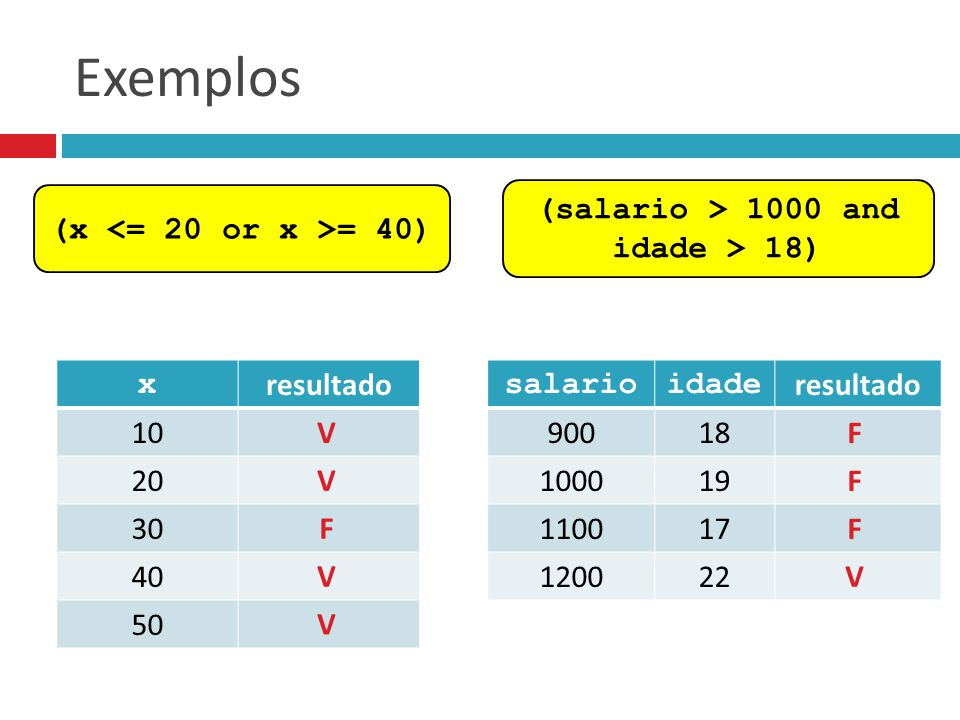 (salario > 1000 and idade > 18)