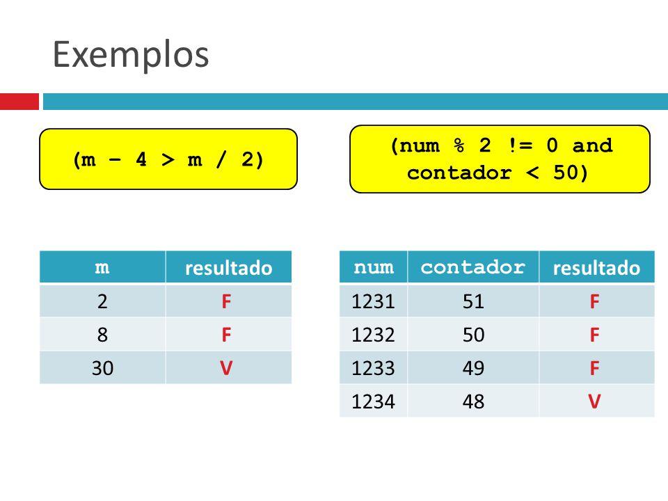 (num % 2 != 0 and contador < 50)