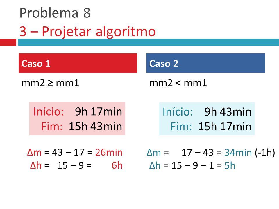 Problema 8 3 – Projetar algoritmo