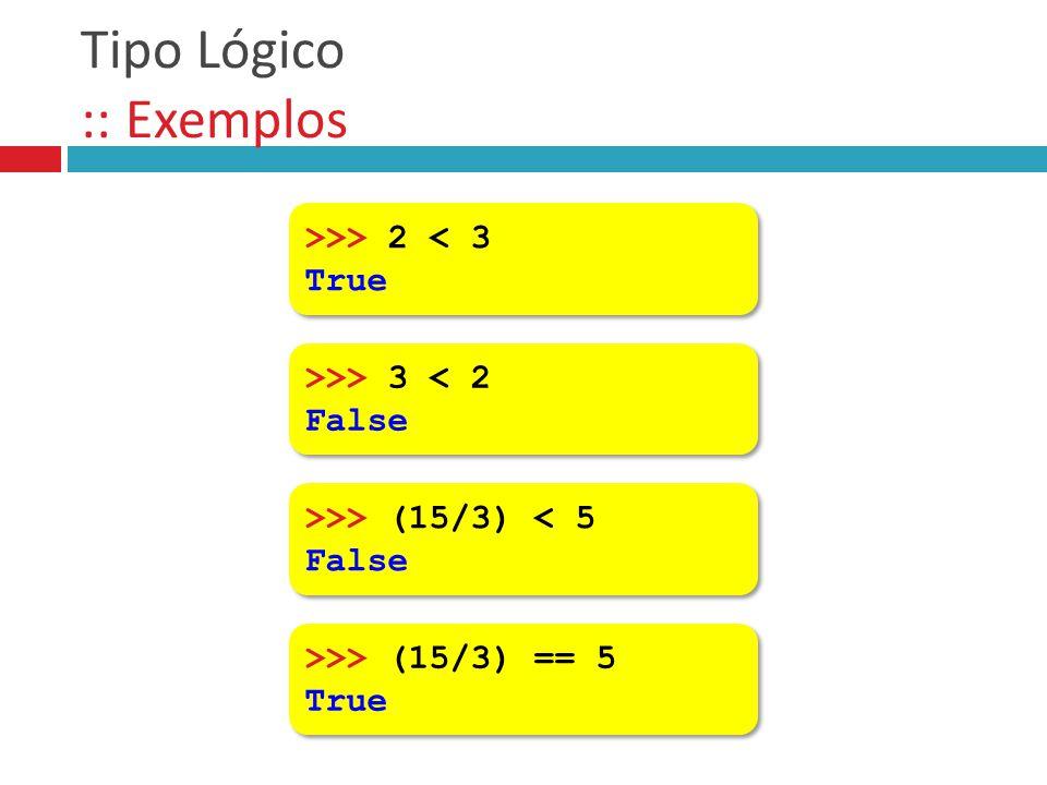 Tipo Lógico :: Exemplos