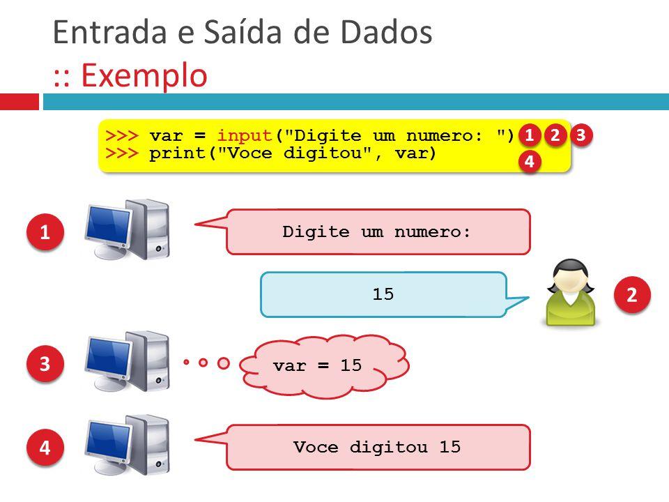 Entrada e Saída de Dados :: Exemplo