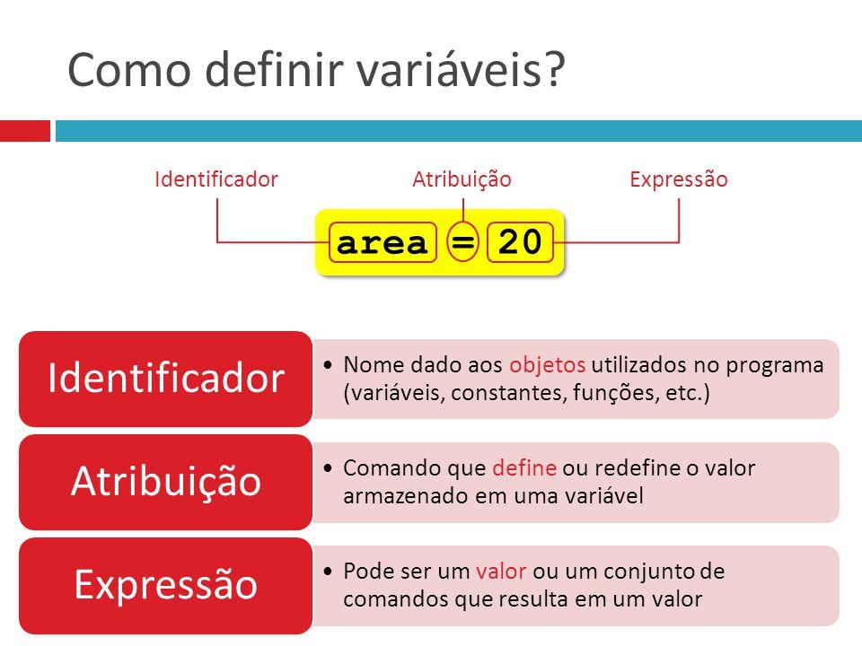 Como definir variáveis