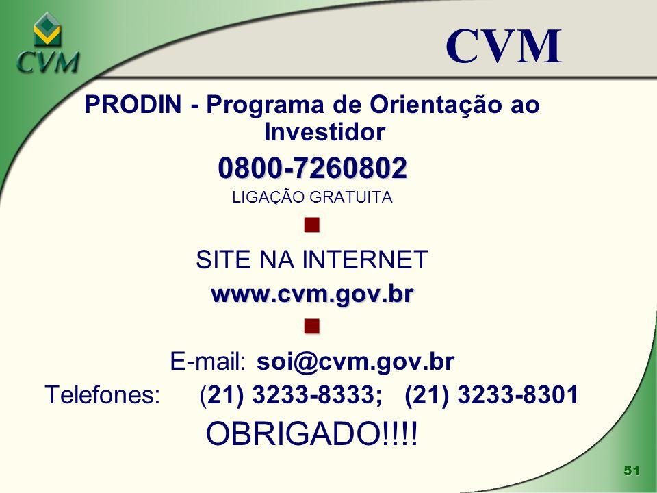 PRODIN - Programa de Orientação ao Investidor