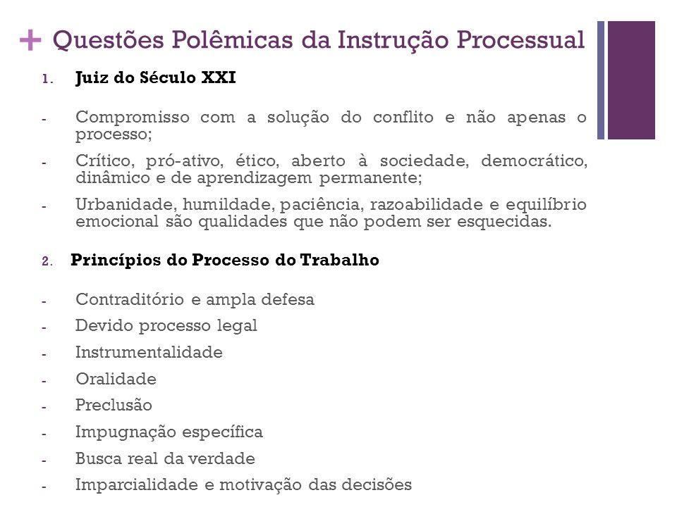 Questões Polêmicas da Instrução Processual