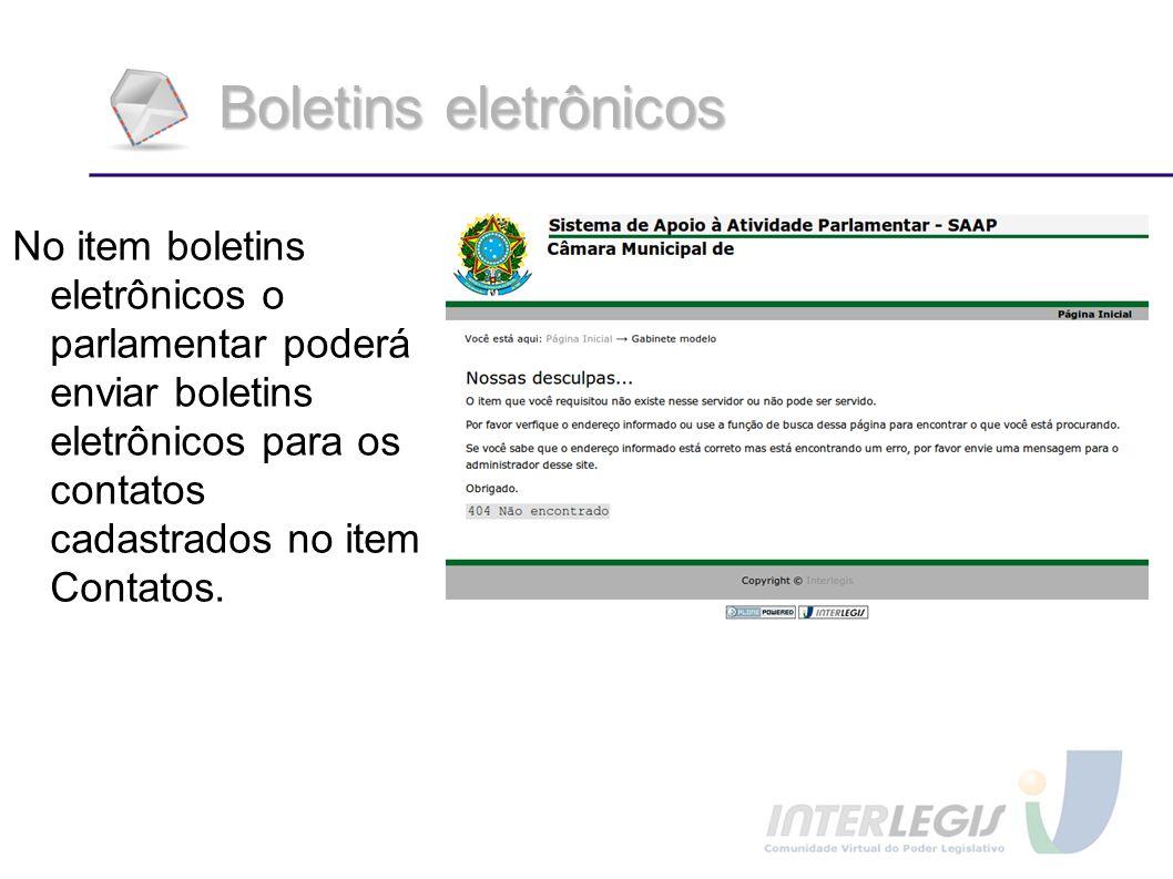 Boletins eletrônicos