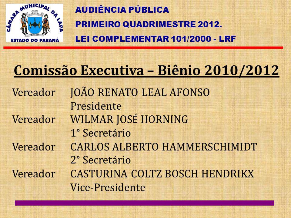Comissão Executiva – Biênio 2010/2012