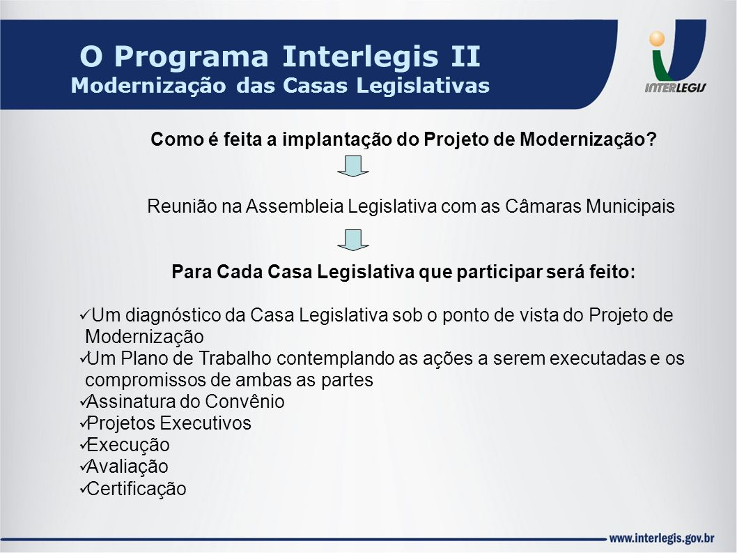 O Programa Interlegis II