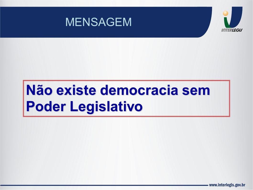 Não existe democracia sem Poder Legislativo