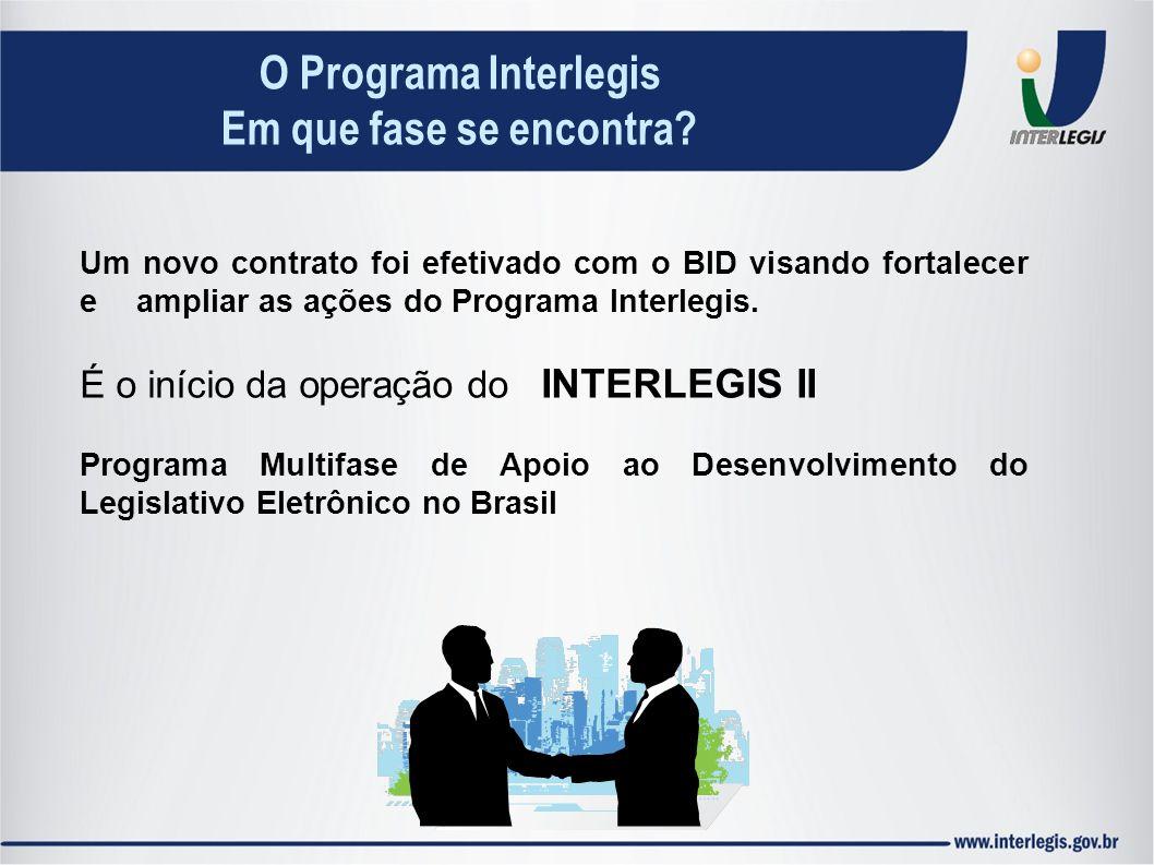 O Programa Interlegis Em que fase se encontra
