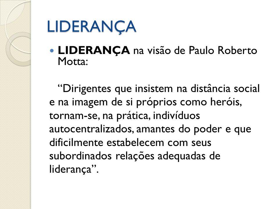 LIDERANÇA LIDERANÇA na visão de Paulo Roberto Motta: