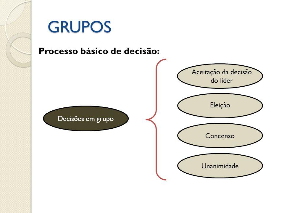 Aceitação da decisão do lider