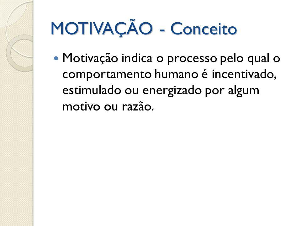 MOTIVAÇÃO - Conceito