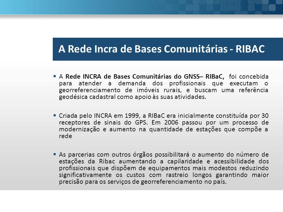A Rede Incra de Bases Comunitárias - RIBAC