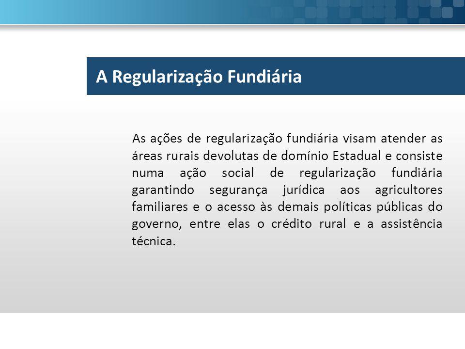 A Regularização Fundiária