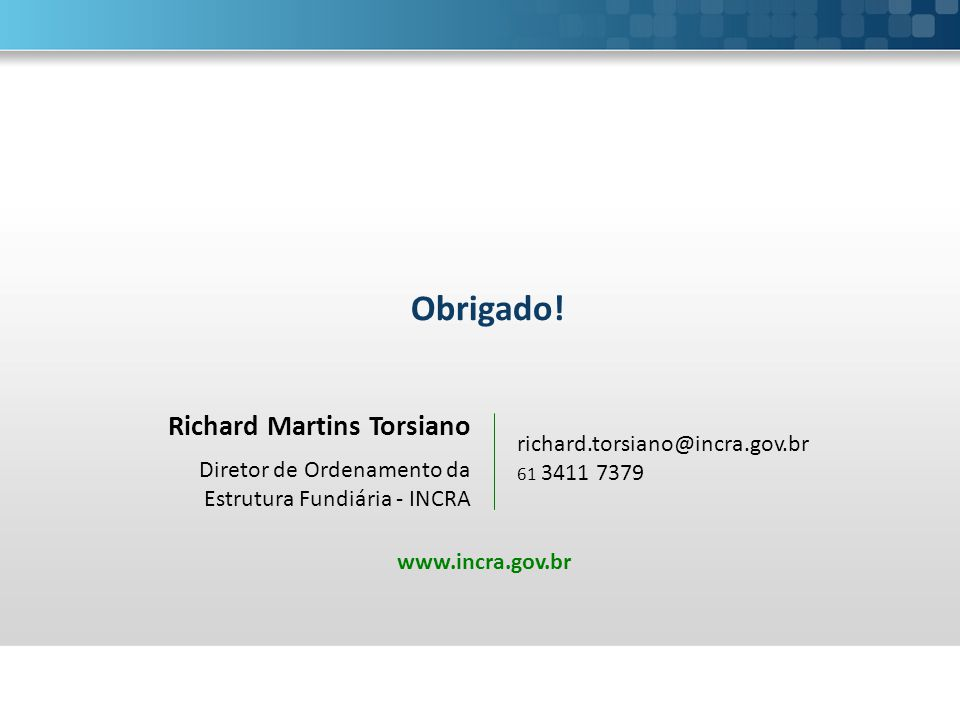 Obrigado! Richard Martins Torsiano