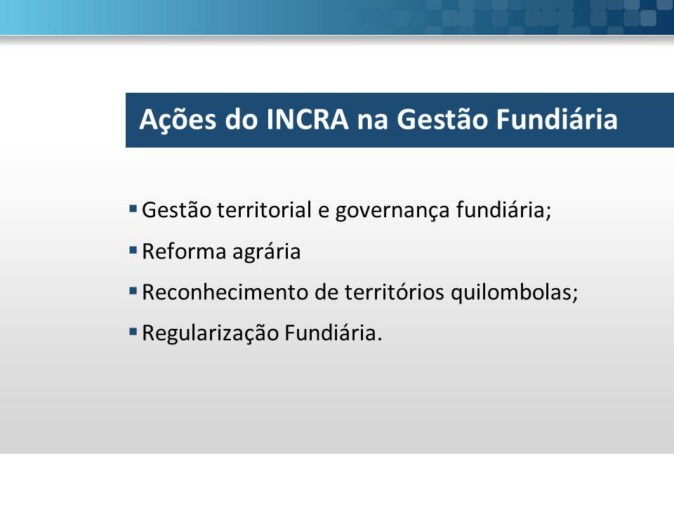 Ações do INCRA na Gestão Fundiária