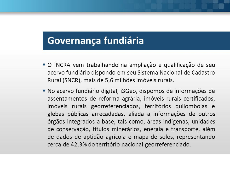 Governança fundiária