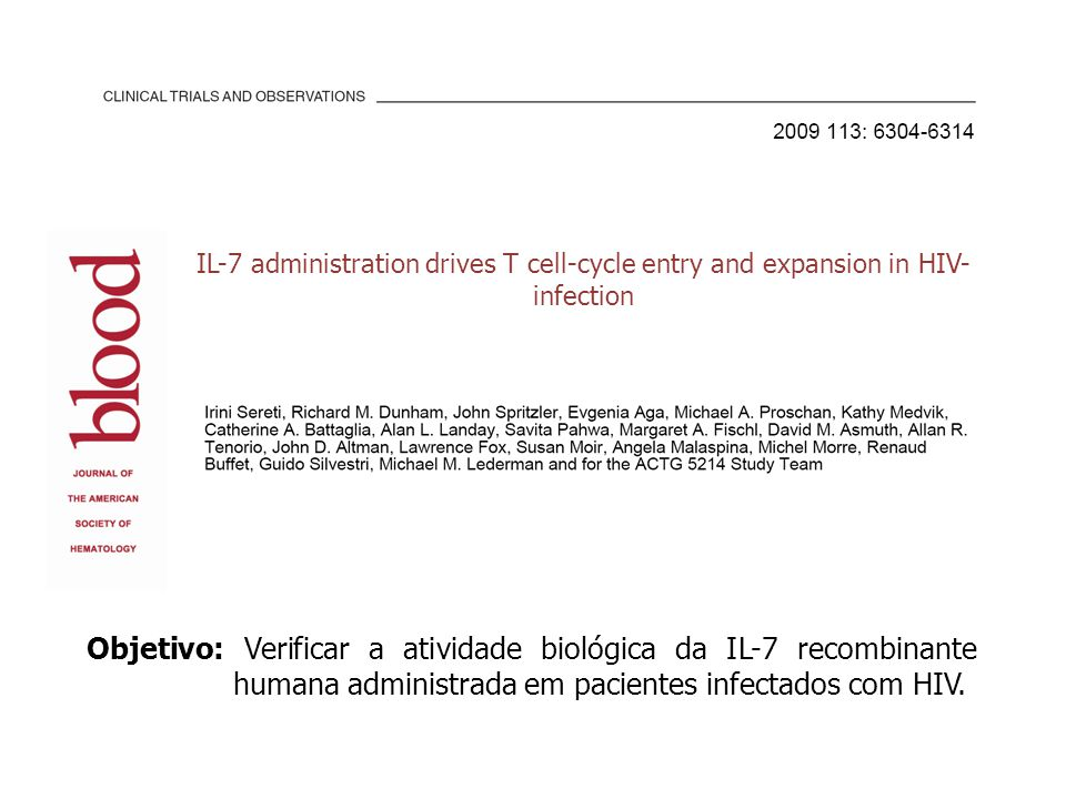 IL-7 administration drives T cell-cycle entry and expansion in HIV-infection