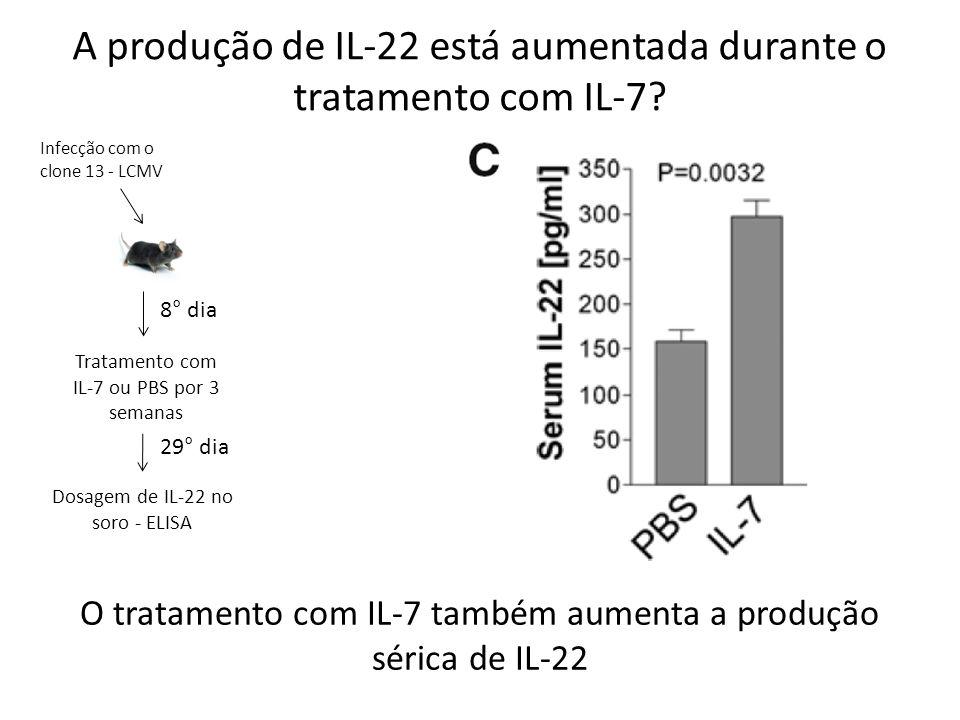 A produção de IL-22 está aumentada durante o tratamento com IL-7