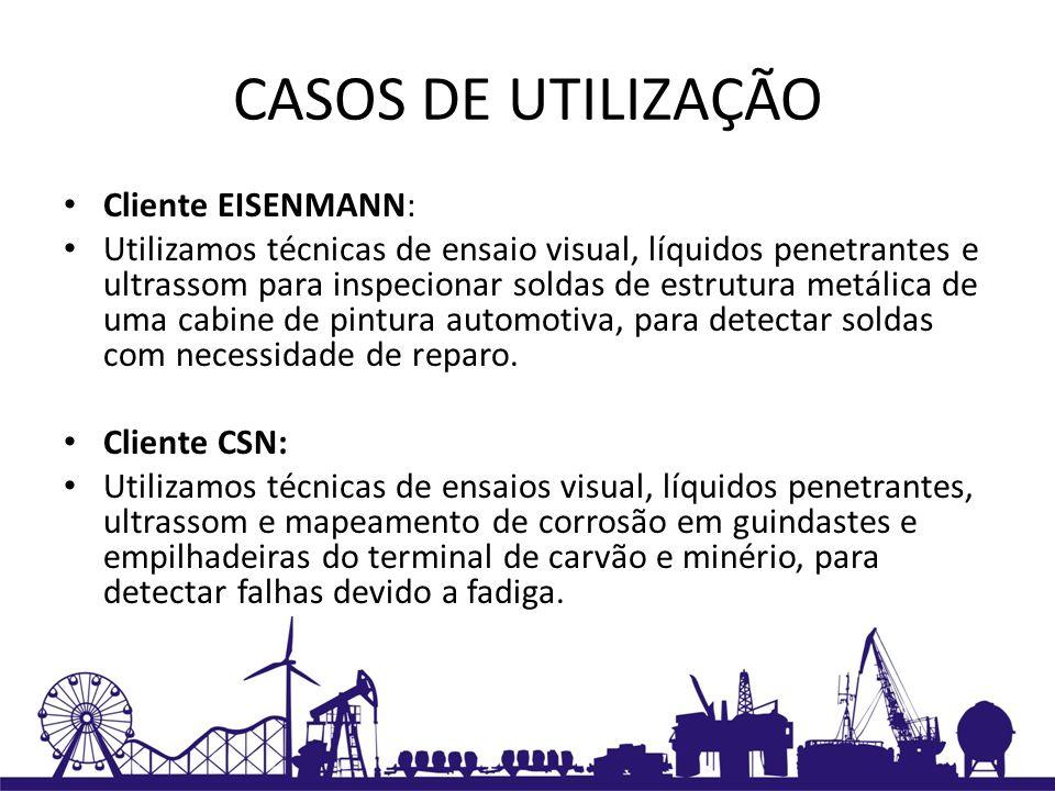 CASOS DE UTILIZAÇÃO Cliente EISENMANN: