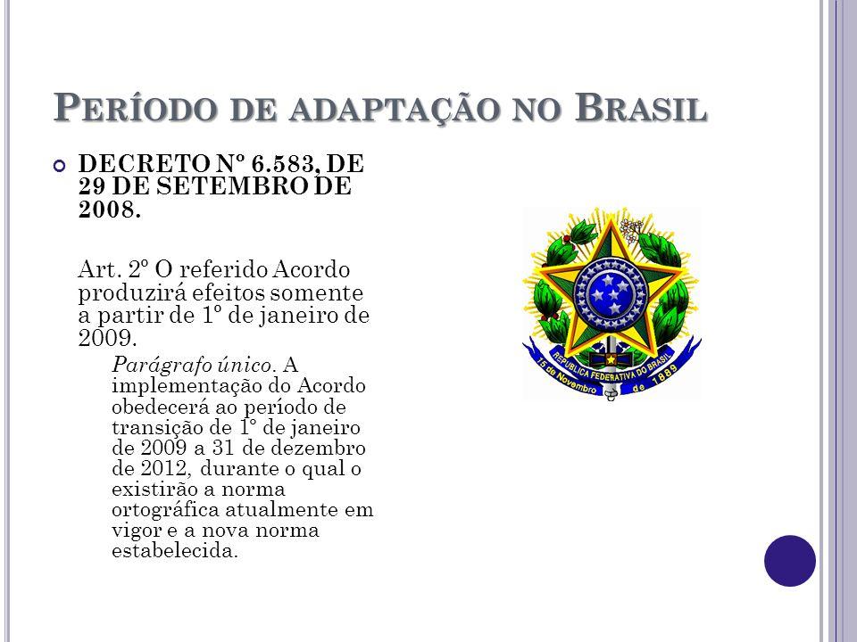Período de adaptação no Brasil