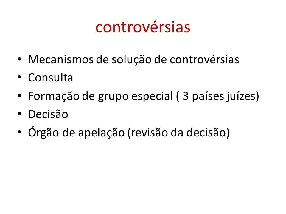 controvérsias Mecanismos de solução de controvérsias Consulta