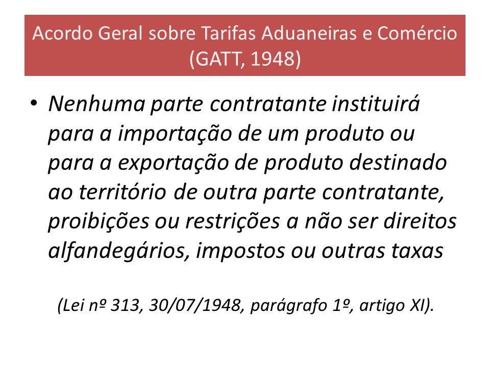 Acordo Geral sobre Tarifas Aduaneiras e Comércio (GATT, 1948)